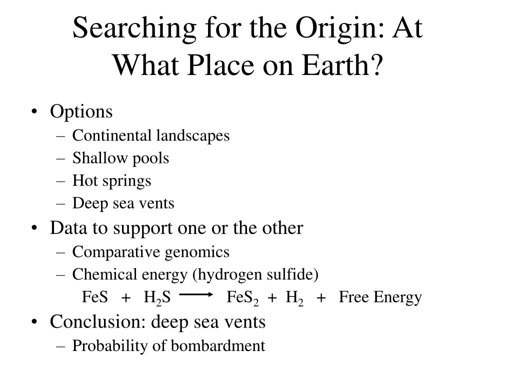 Searching for the Origin: At What Place on Earth?