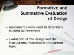 formative and summative evaluation of design