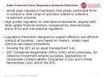 qatar financial centre regulatory authority objectives