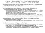 color constancy cc in brief displays