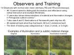 observers and training