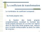 le coefficient de transformation3