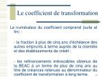 le coefficient de transformation4