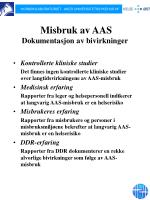 misbruk av aas dokumentasjon av bivirkninger1