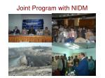 joint program with nidm