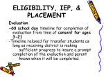 eligibility iep placement