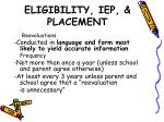 eligibility iep placement1