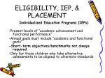 eligibility iep placement3