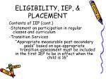 eligibility iep placement5