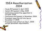 idea reauthorization 2004
