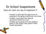 in school suspensions