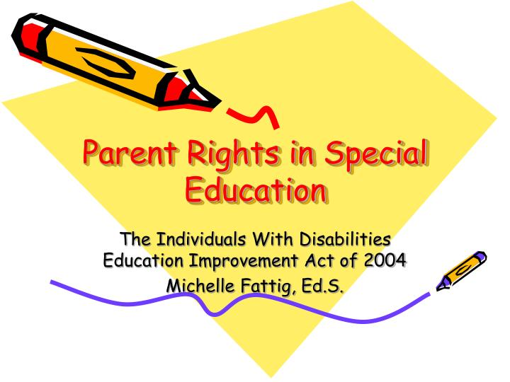 parent rights in special education n.