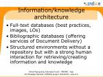 information knowledge architecture