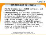 technologies in indire