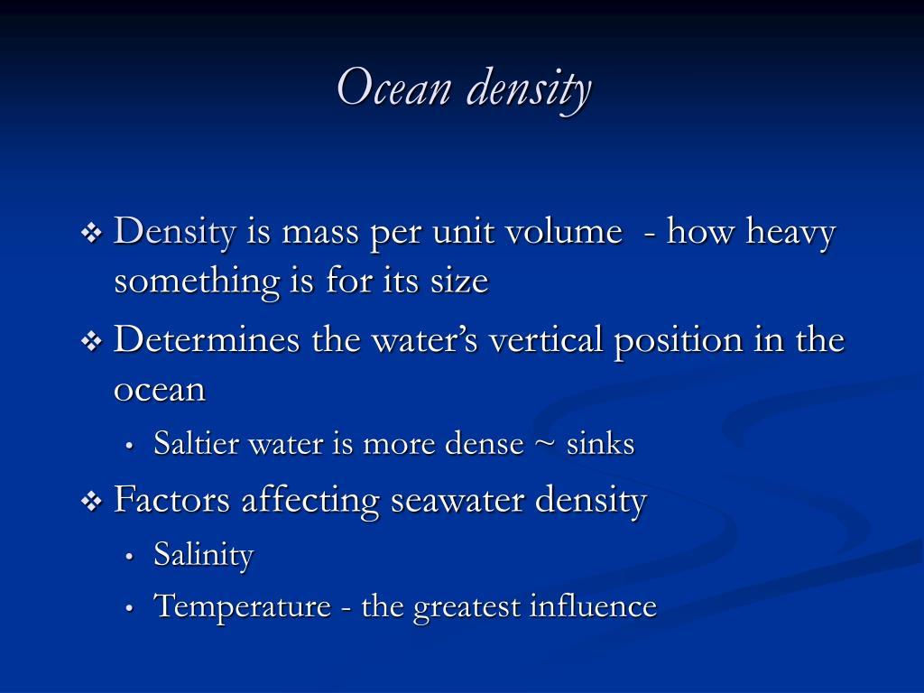 Ocean density