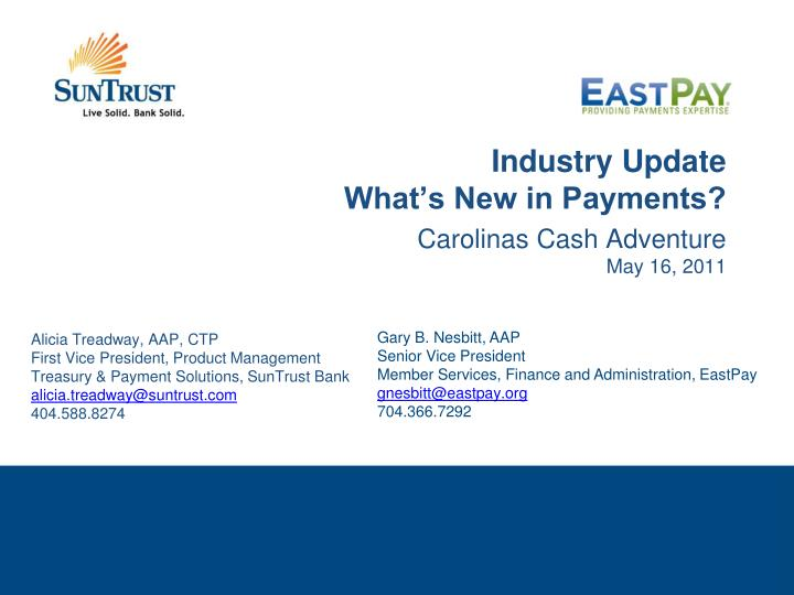 industry update what s new in payments n.