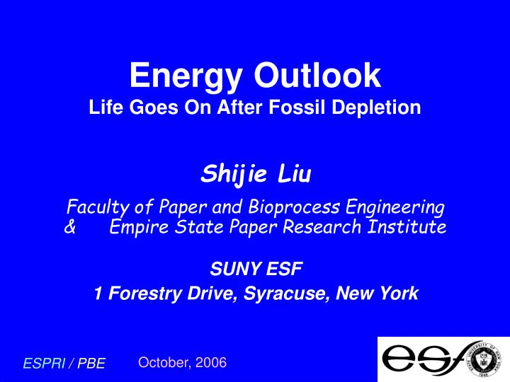energy outlook life goes on after fossil depletion n.