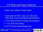 us pulp and paper industry