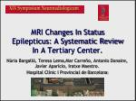 mri changes in status epilepticus a systematic review in a tertiary center