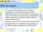 pdl strategies