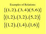 examples of relations