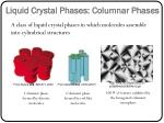 liquid crystal phases columnar phases