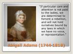 abigail adams 1744 1818