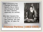 frances perkins 1882 1965