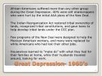 great depression 1960 s