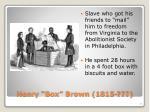 henry box brown 1815