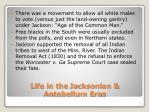 life in the jacksonian antebellum eras