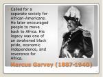 marcus garvey 1887 1940