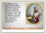 phyllis wheatley 1753 1784