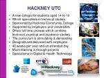 hackney utc