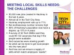 meeting local skills needs the challenges
