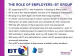 the role of employers bt group