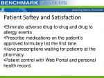 patient saftey and satisfaction