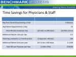 time savings for physicians staff1