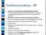 definitional problems bp
