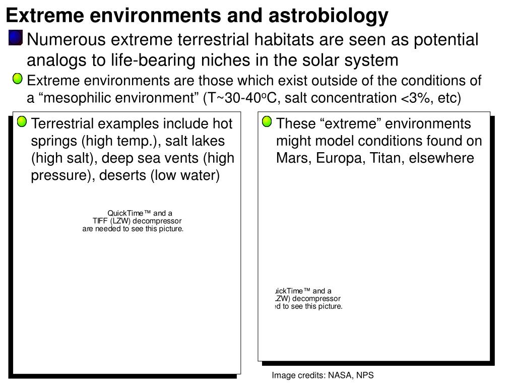 Extreme environments and astrobiology