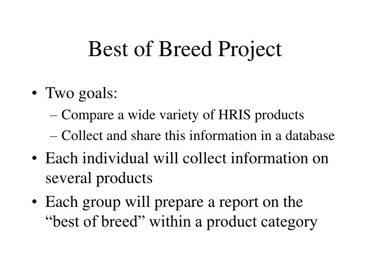 best of breed project n.