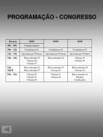 programa o congresso