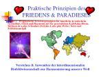 praktische prinzipien des friedens paradieses