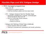 flexible pipe and stu fatigue design