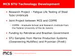 mcs stu technology development