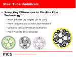 steel tube umbilicals