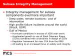 subsea integrity management