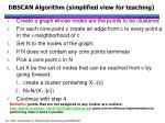 dbscan algorithm simplified view for teaching