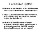 harmonized system1