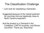 the classification challenge